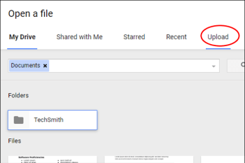 google docs upload resume