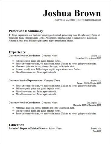 Free Resume Templates Hirepowers Net