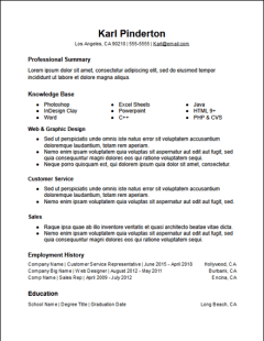 Functional Resume Templates Free To Download - HirePowers.net