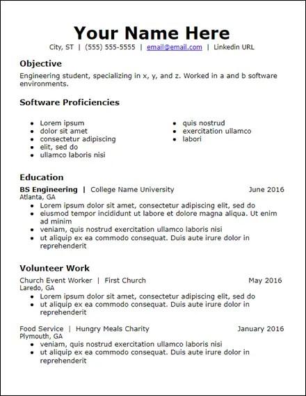 google_docs_objective_volunteer_resume_template