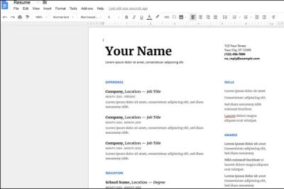 google_docs_resume_template_editing