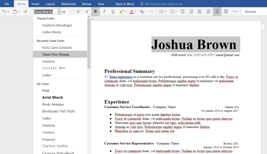Microsoft Word Resume Templates Free to Download - HirePowers net