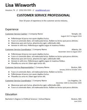career summary statement resume template