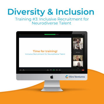 our second D&I virtual training was on recruiting neurodiverse talent