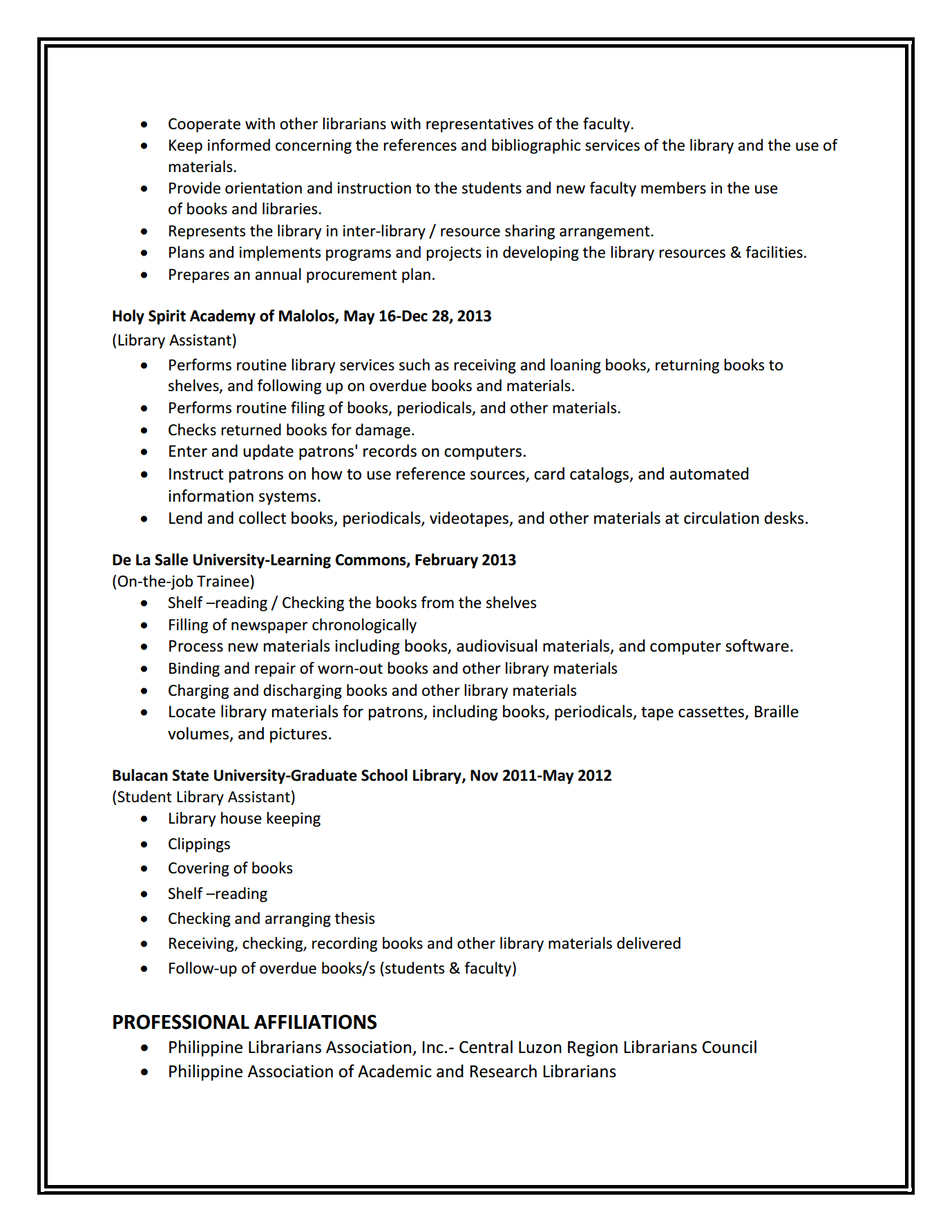 school librarian resume sample newsound co