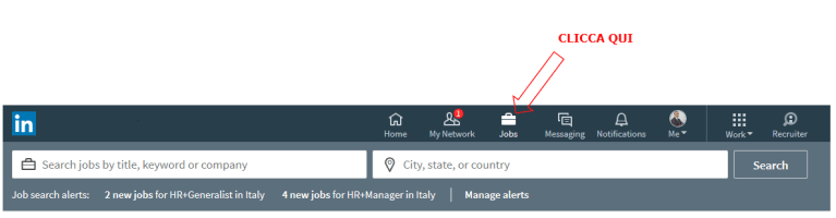 Annunci di lavoro su LinkedIn