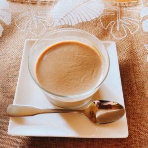 カフェオレ杏仁豆腐