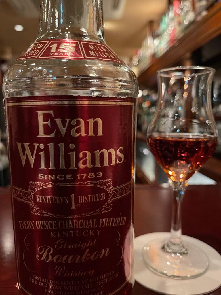 エヴァンウィリアムズ15年をテイスティング