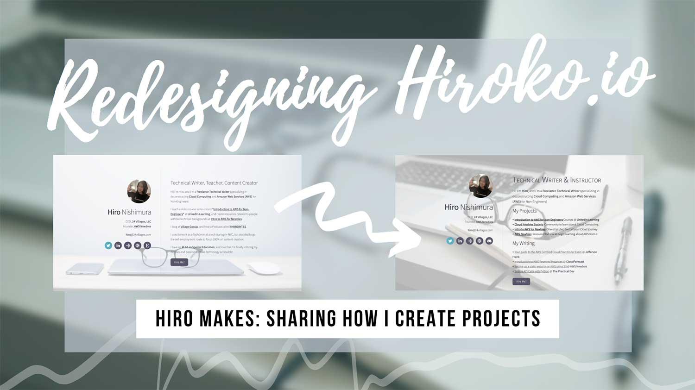 How I redesigned my portfolio website
