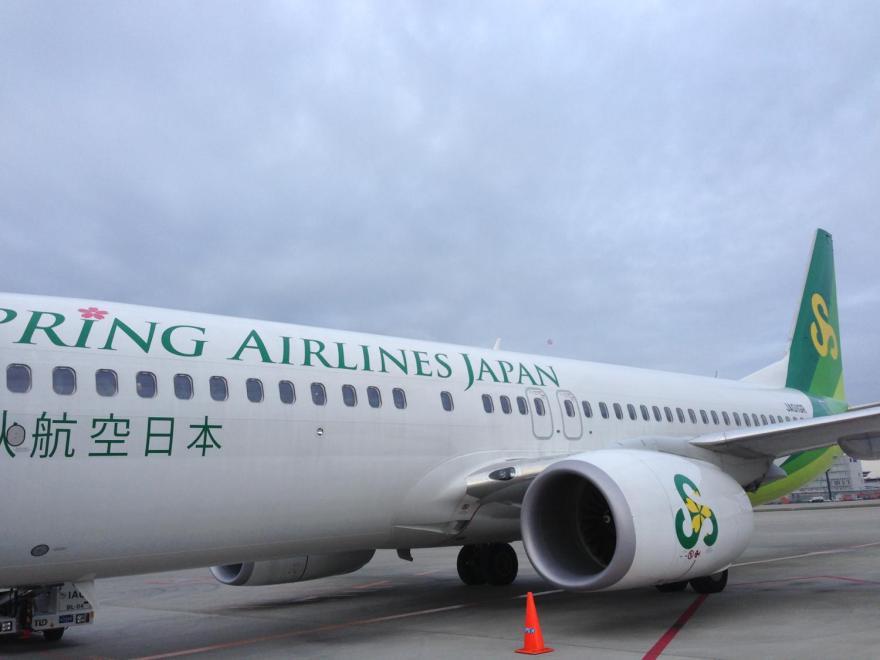 早朝に広島に行く春秋航空
