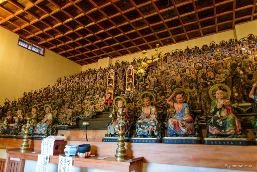 天寧寺の五百羅漢像