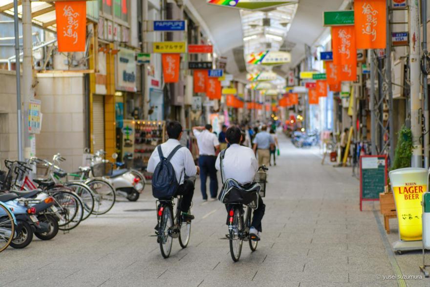 尾道の通学自転車