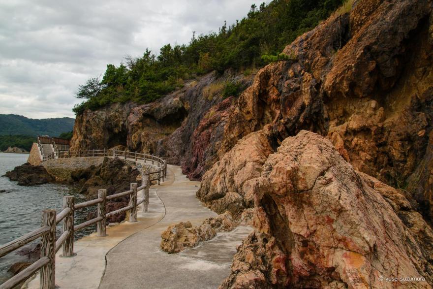 仙酔島の通路