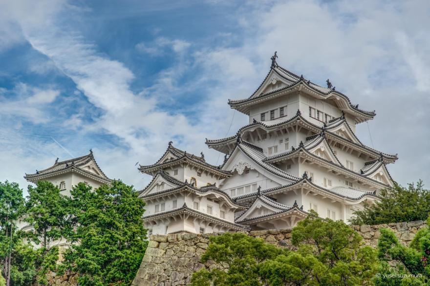 姫路城をHDRした写真