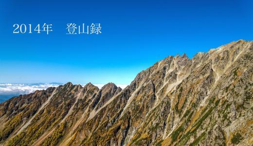 【まとめ】2014年登山録