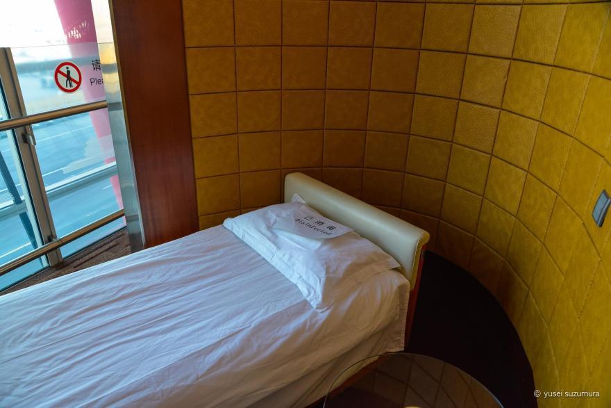 仮眠室 エアチャイナのファーストクラスラウンジ