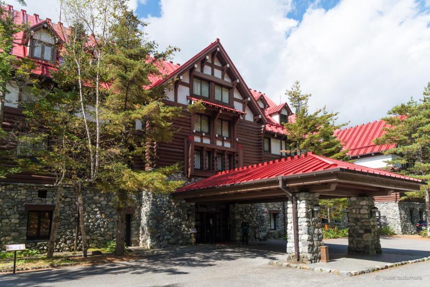 上高地帝国ホテル 玄関