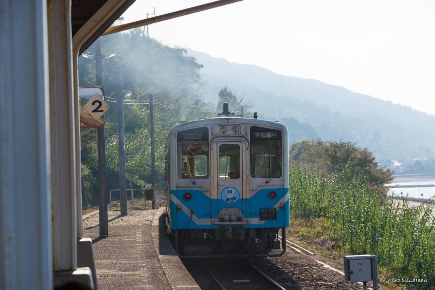 下灘駅 電車