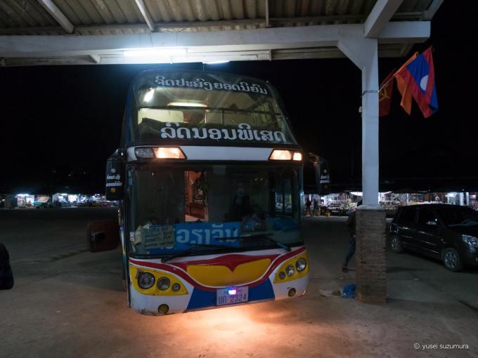 ルアンパバーン 寝台バス