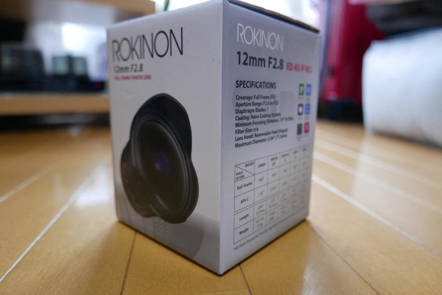SAMYANG 12mm F2.8 ED AS NCS FISH-EYE 右