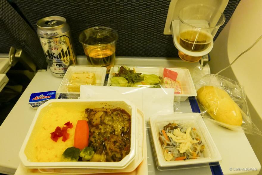 ANA インド 機内食