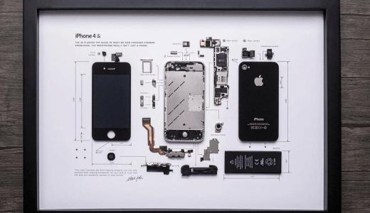 iPhoneの標本がアート作品になる!?GRIDスタジオでiPhone 4Sの標本を購入してみました。