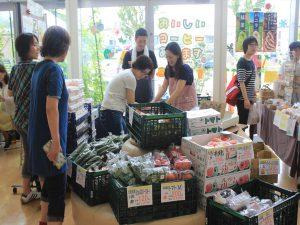 新鮮野菜を販売した上保木青果