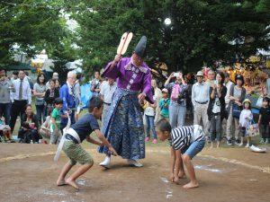 元気いっぱい。子供相撲大会