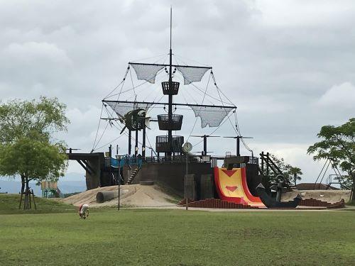 筑紫野市総合公園の海賊船