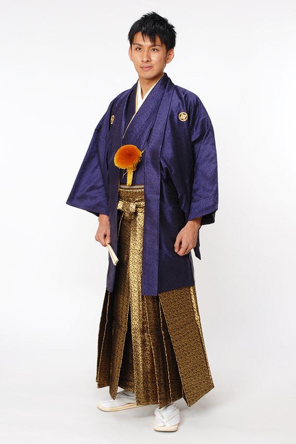 紋付袴 紺(ネイビー)