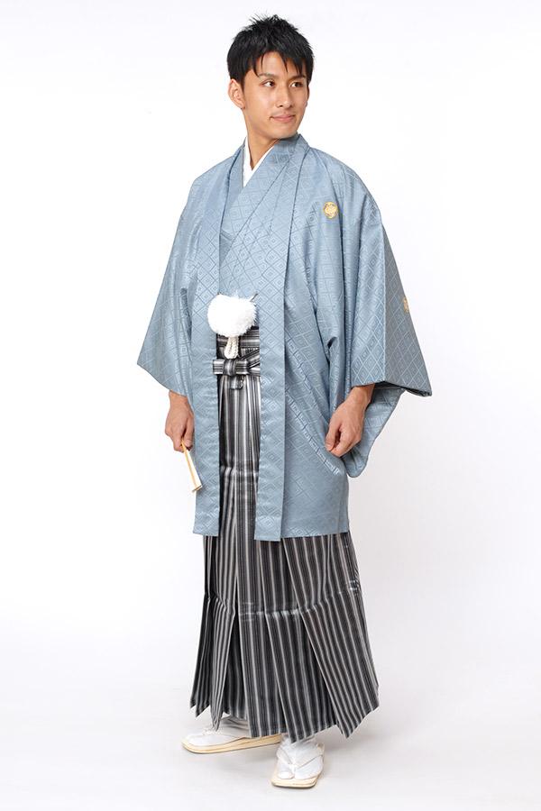紋付袴 ライトブルー