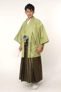 グリーン紋付袴