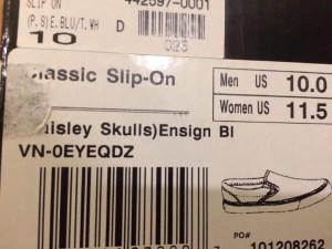 vans slip-on box-tag