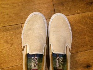 vans slip-on front close-up