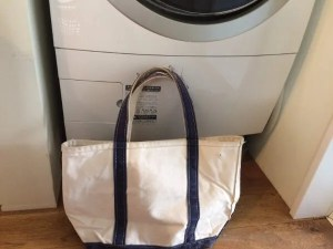 l-l-bean washed-tote-bag with wash-dram