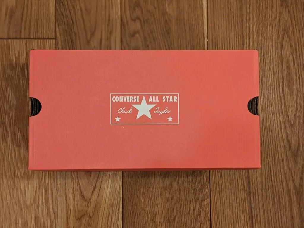 『コンバース CT70・レビュー』サイズ感や履き心地、気になる偽物について元靴屋が紹介・箱画像