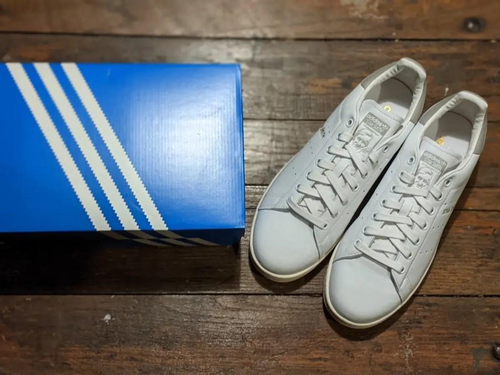 アディダス・スタンスミス・靴とボックス画像