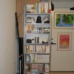 [凹] 一人暮らしに最適!突っ張り式の本棚は奥行き15cmで超スリム!【幅60cm】