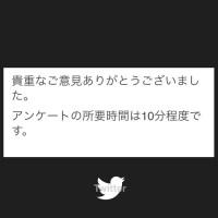 【 Twitterから来たアンケートの文言がどうしても真面目に受け取れない】