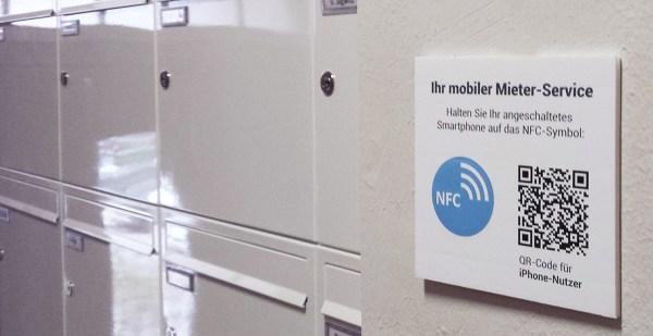 NFC-Tags an den Briefkästen