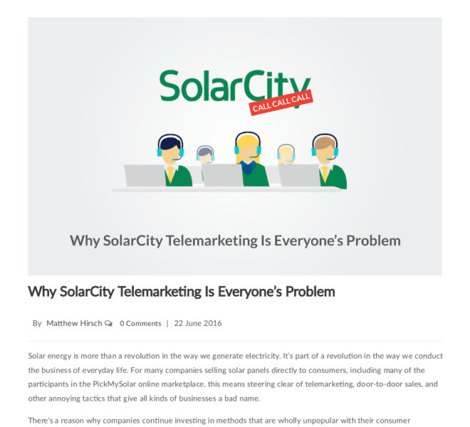 SolarCity Telemarketing