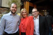 Llewelyn Traut, Margaret Hirsch and Gareth Payne from Samsung