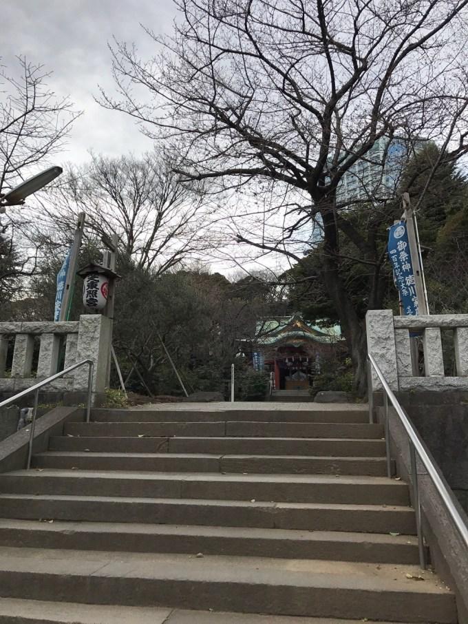 芝東照宮階段