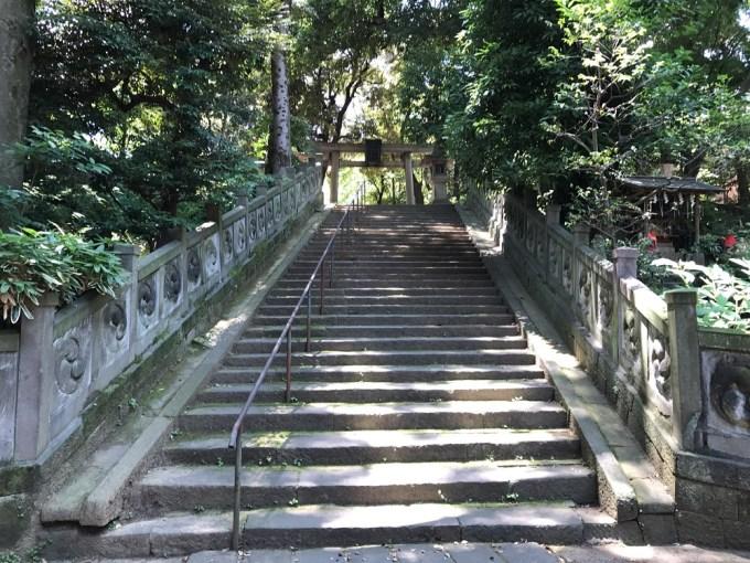 赤坂氷川神社階段