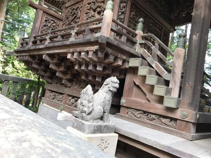 越谷香取神社狛犬4左