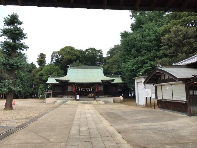峯ヶ岡八幡神社境内