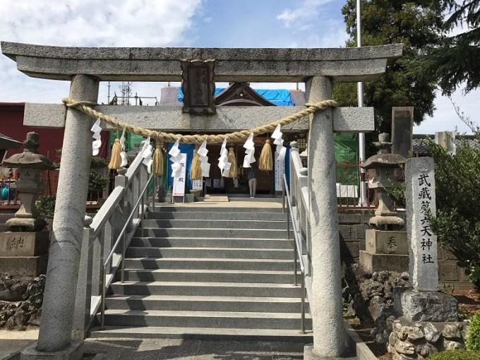 武蔵第六天神社鳥居