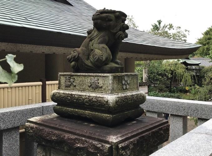 五條天神社狛犬左