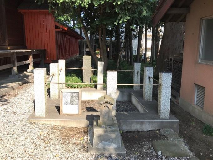 仙波日枝神社底なしの穴の跡