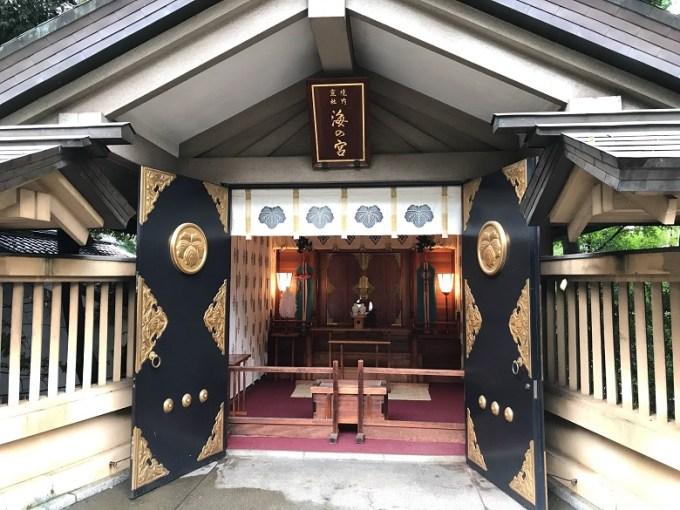 東郷神社海の宮お社